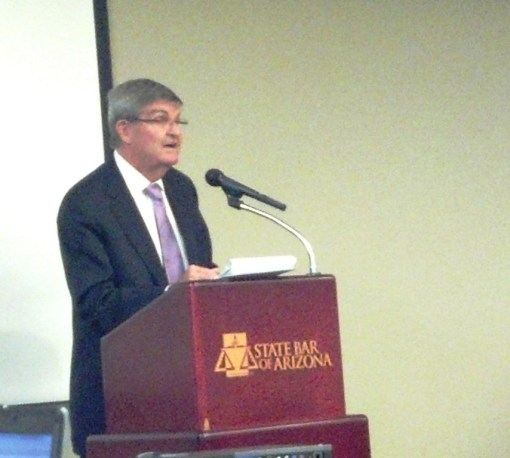 Larry Hammond speaks at the State Bar Board of Governors meeting, Oct. 25, 2013