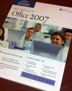 My old Microsoft Office 2007 book (rarely opened, I must admit).