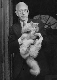 Richard Posner and his cat: Is law school the way it is because of this man? (But not because of his cat, we believe.)