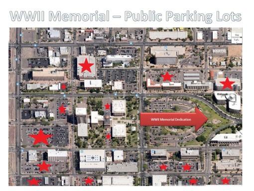 AZ WWII Memorial designated parking areas