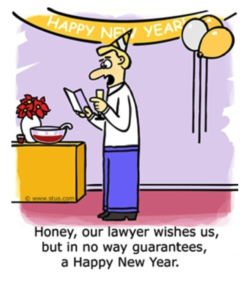 Happy New Year cartoon