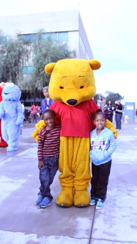 Winnie the Pooh was just one of the participants in the 2013 National Adoption Day, Nov. 23, 2013. The biggest such event nationwide was held at the Durango Juvenile Court Center, 3131 W. Durango in Phoenix.