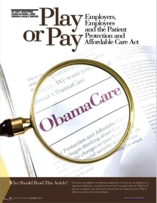 Obamacare article in AzAt Dec 2013