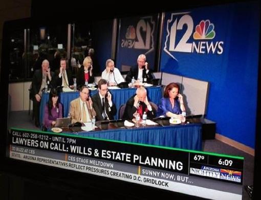 AZ Bar Lawyers on Call 01-07-14 estate planning