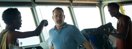 Barkhad Abdi (left) and Tom Hanks in Captain Phillips