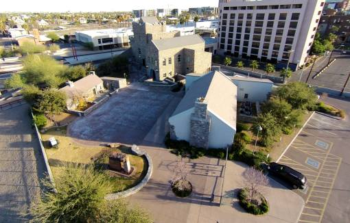 Irish Cultural Center from above - Weecks Productions