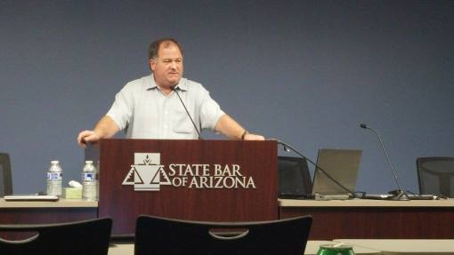 Mark Lassiter speaks at the State Bar of Arizona, Feb. 11, 2014.