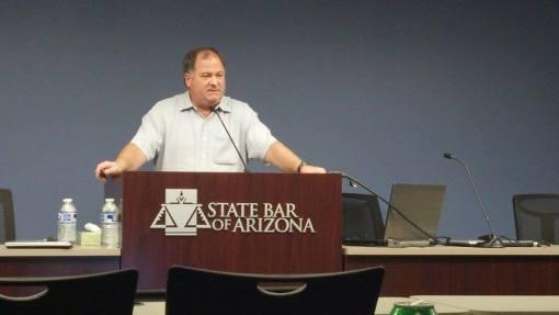 Mark Lassiter speaks at the State Bar of Arizona, Feb. 11, 2014.