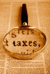 tax law magnifying glass