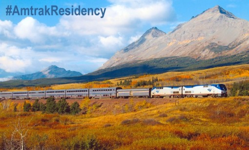 Amtrak writing writer residency