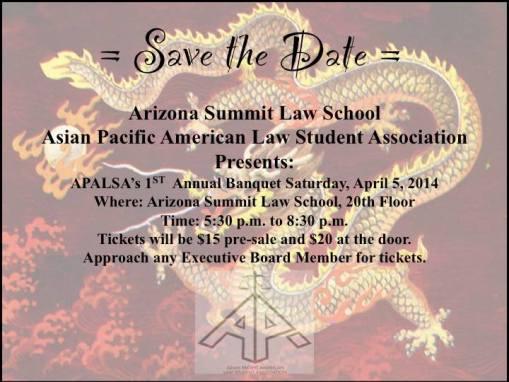 APALSA banquet date 2014