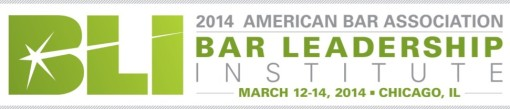 American Bar Association Bar Leadership Institute 2014 BLI logo