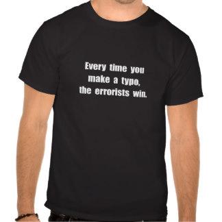 T-shirt evokes national security: Grammar Day error terror