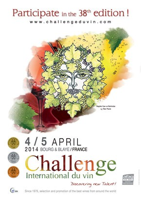 wine competition invitation for Bourg, France