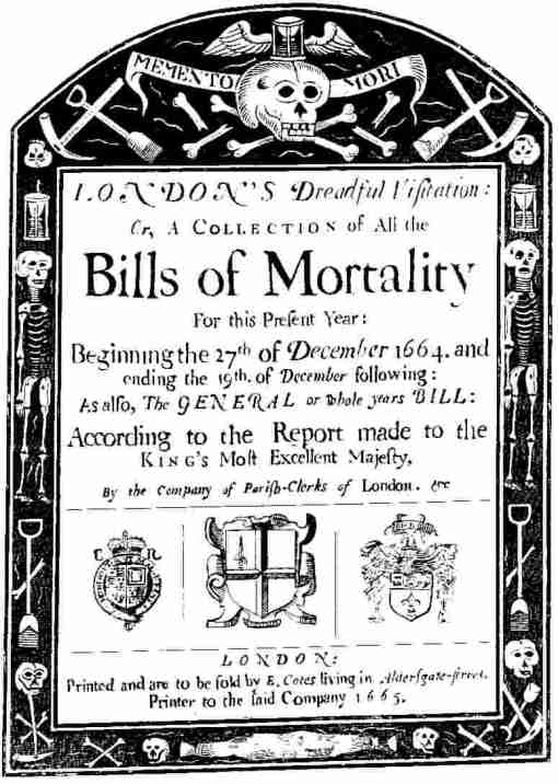 Bills of mortality preceded modern death certificates, and they suffer from similar challenges.