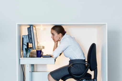 Feeling squeezed in your office? Shrinking office space is a national trend.