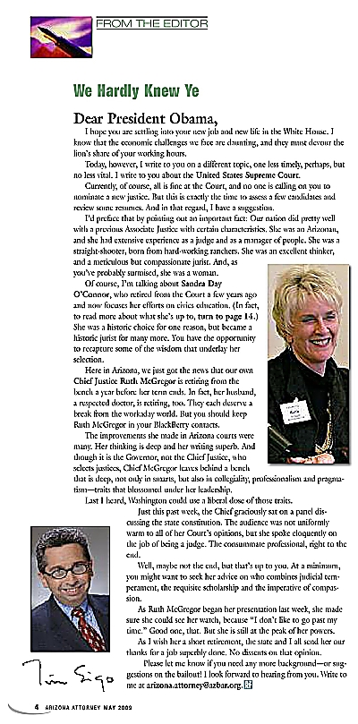AzAt Editor's Letter May 2009 Ruth McGregor_opt