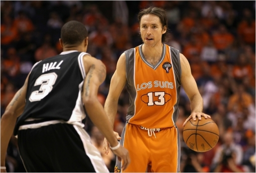 Los Suns jersey worn by Steve Nash of the Phoenix Suns in 2010