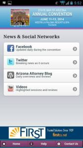State Bar of Arizona Convention app social networks