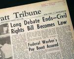 Civil Rights Act of 1964 newspaper headline