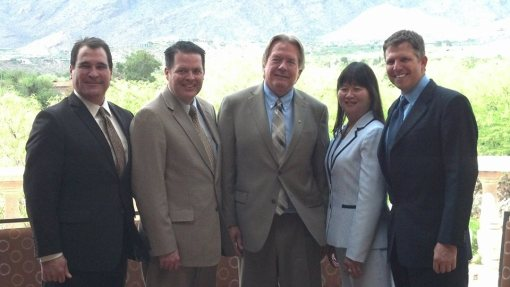 State Bar of Arizona Officers, 2014-15: (L to R): Alex Vakula, Bryan Chambers, Richard Platt, Lisa Loo, Geoffrey Trachtenberg