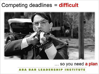 Atticus Finch is prized by lawyers. But my use of him in a PowerPoint was to illustrate a non-Mockingbird point.