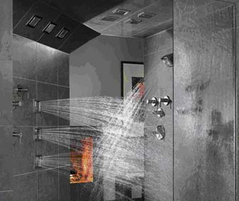 Should the owner of this shower pay more for water? An efficient market might say yes.