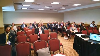 My first audience at the Phi Alpha Delta conference: Much experience in practice, questions about functionality.