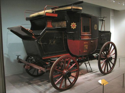 Royal Mail Coach, photo by DanieVDM, via Wikimedia Commons