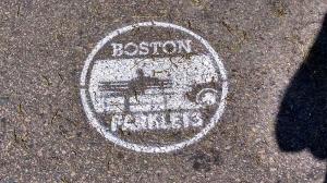 Boston parklets, branded