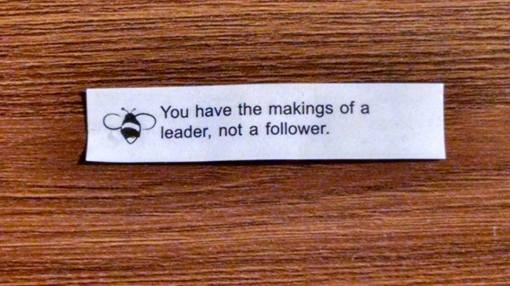 The cosmos have spoken through my fortune cookie; I'll have to alert my high school guidance counselor.