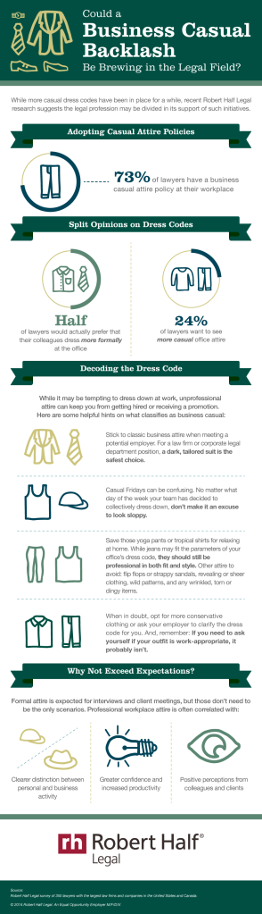 Robert Half Legal_Business Casual Attire infographic