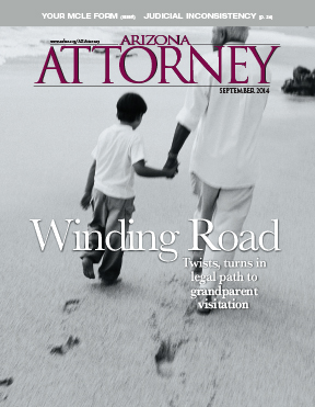 Arizona Attorney Magazine cover September 2014, grandparent visitation laws
