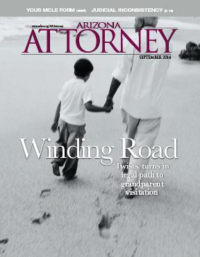 Arizona Attorney Magazine cover September 2014, grandparent visitation laws