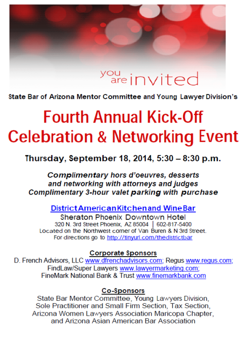 State Bar Networking event 09-18-14