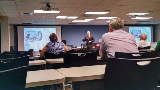 Bob McWhirter presents at the We the People panel, Sept. 17, 2014.