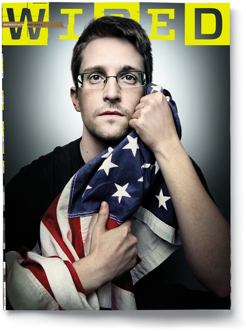 Edward Snowden @wired cover story combines compelling words, images, history