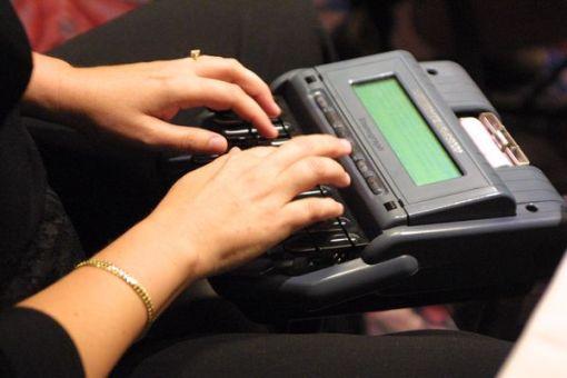 court stenographer