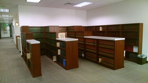 Library space, Dickinson Wright law firm, Phoenix, Ariz.