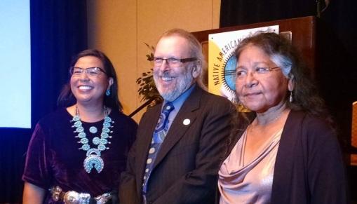 NABA-AZ 2014 award winners (L to R): Diandra Benally, Robert Clinton, Diane Enos