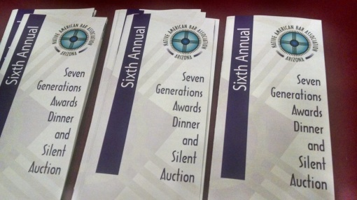 NABA-AZ Native American Bar Association of Arizona  banquet brochures