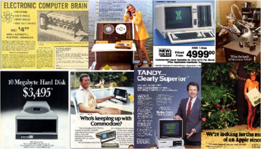 Do these old computer ads represent your current technology thinking? Time to adjust your vertical hold.