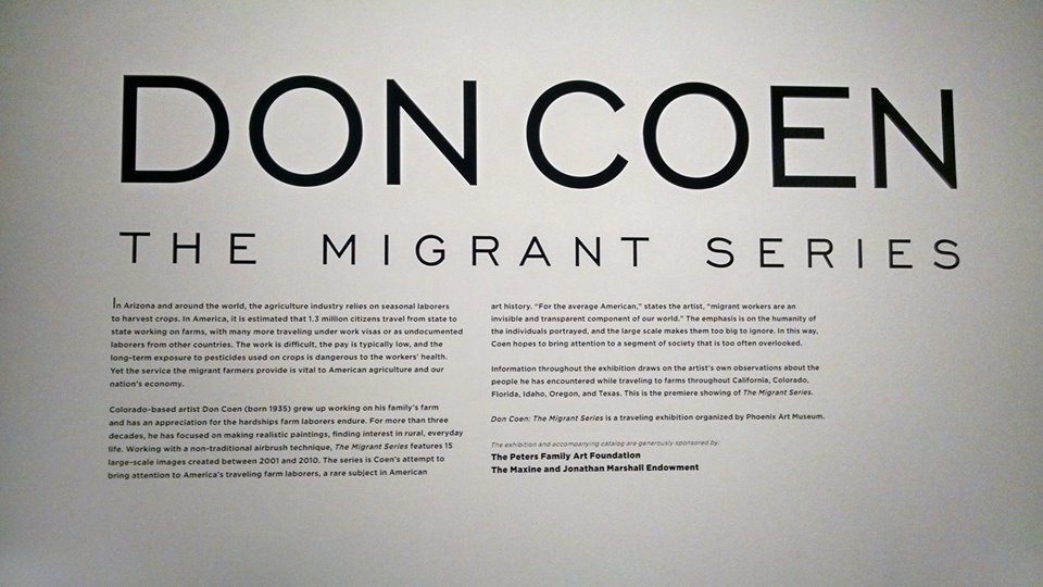 Don Coen Migrant Series at @phxart compelling look at migrant farmers (2/4)