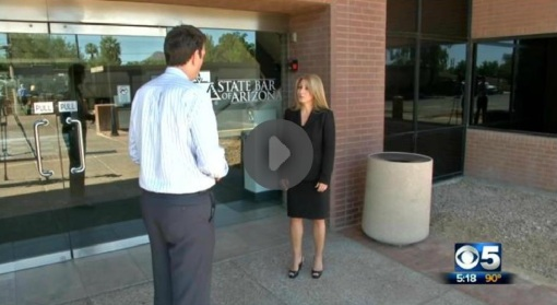 State Bar of Arizona Chief Bar Counsel Maret Vessella interviewed by KPHO reporter Dave Cherry