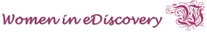 Women in eDiscovery banner logo cropped