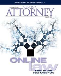 March 2013: Online Law