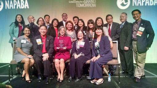 Members of the Arizona Asian American Bar Association gather at the annual NAPABA Convention, Nov. 2014.