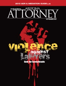 Nov. 2013: Violence against the legal profession