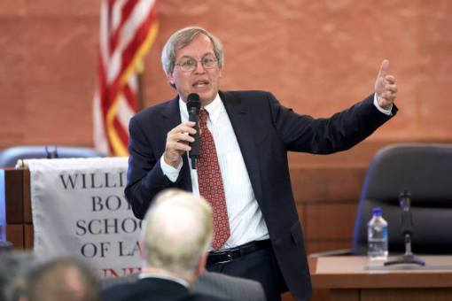 Dean Erwin Chemerinsky delivered keynote remarks at a conference on the implications of drones.