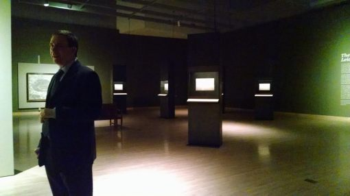 Dr. Jerry Smith leads a tour of the Leonardo show at Phoenix Art Museum, Jan.. 23, 2015.